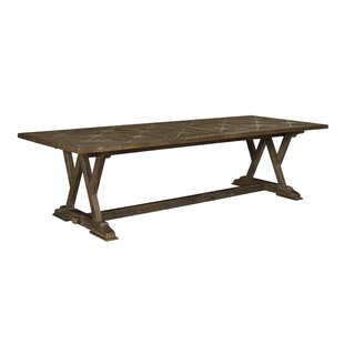 Loranger Cordoba Parquetry Solid Wood Dining Table by Gracie Oaks