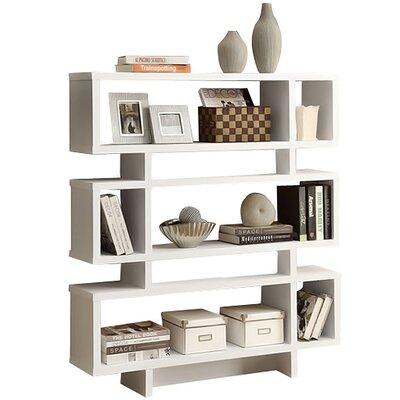 Aleksandra Geometric Bookcase Finish: White by Hashtag Home