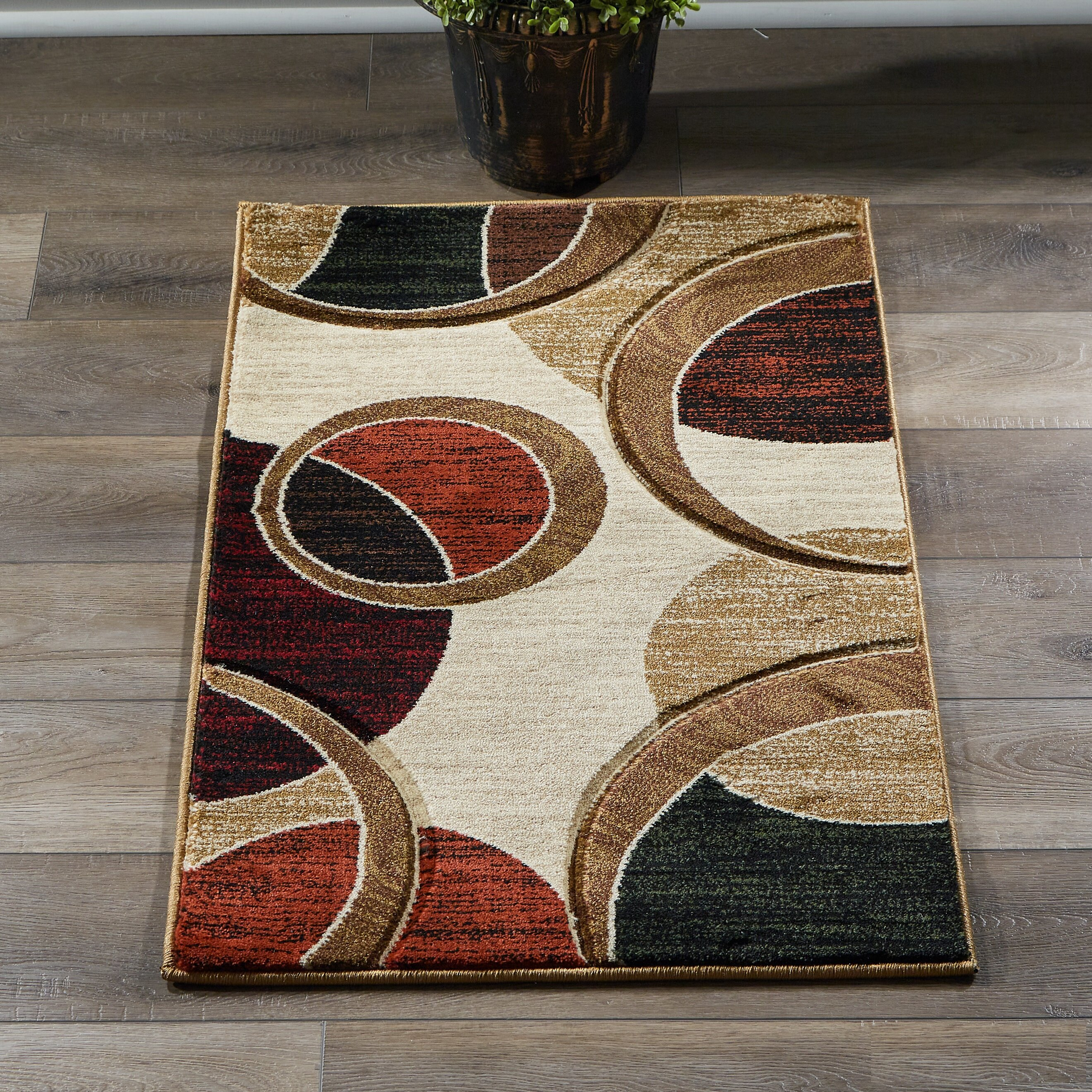 Wrought Studio Adonia Abstract Beige Brown Area Rug Reviews Wayfair