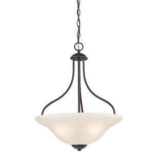 Cathy 3-Light Bowl Pendant by Winston Porter
