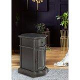 Tanja 1-door 1-drawer Cabinet In Dark Brown by Red Barrel Studio®