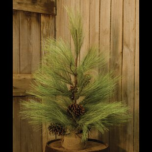 Long Needle 2.5' Green Pine Artificial Christmas Tree with Base