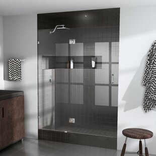 Low priced 39.75 x 78 Hinged Frameless Shower Door By Glass Warehouse