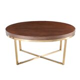 Chautel Cross Legs Coffee Table by Everly Quinn