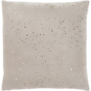 Starlight Taupe Modern Cotton Throw Pillow