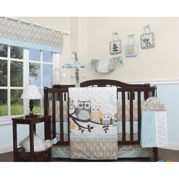 Geenny Enchanted Forest Owls Family 13 Piece Crib Bedding