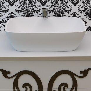 Comparison Arabella™ Rectangular Vessel Bathroom Sink By Aquatica