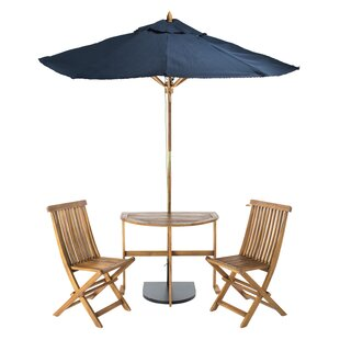 Southington 3 Piece Bistro Set with Umbrella