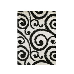 Affordable Price Chapa Black/White Area Rug By Fleur De Lis Living