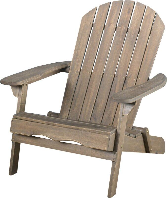 Boone Wood Folding Adirondack Chair
