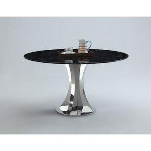 Orren Ellis Shequita Marble Dining Table