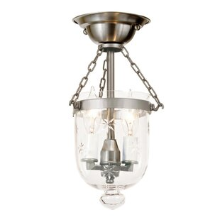 JVI Designs 2-Light Tiny Bell Jar Semi Flush Mount
