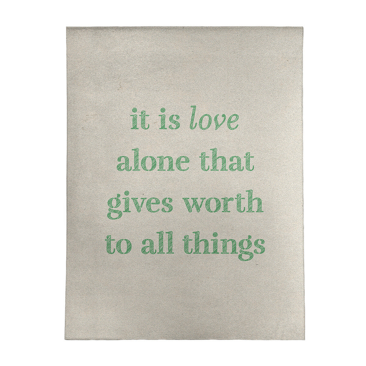 East Urban Home Handwritten Love Inspirational Quote Poly Chenille Rug