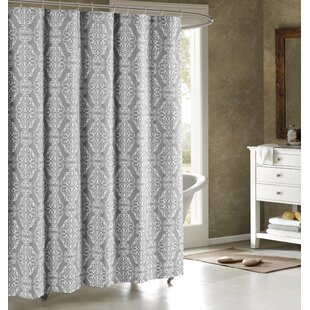 Grey And Taupe Shower Curtain