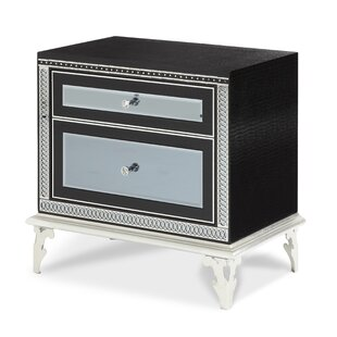Big Save Hollywood Swank Starry Night 2 Drawer Nightstand by Michael Amini
