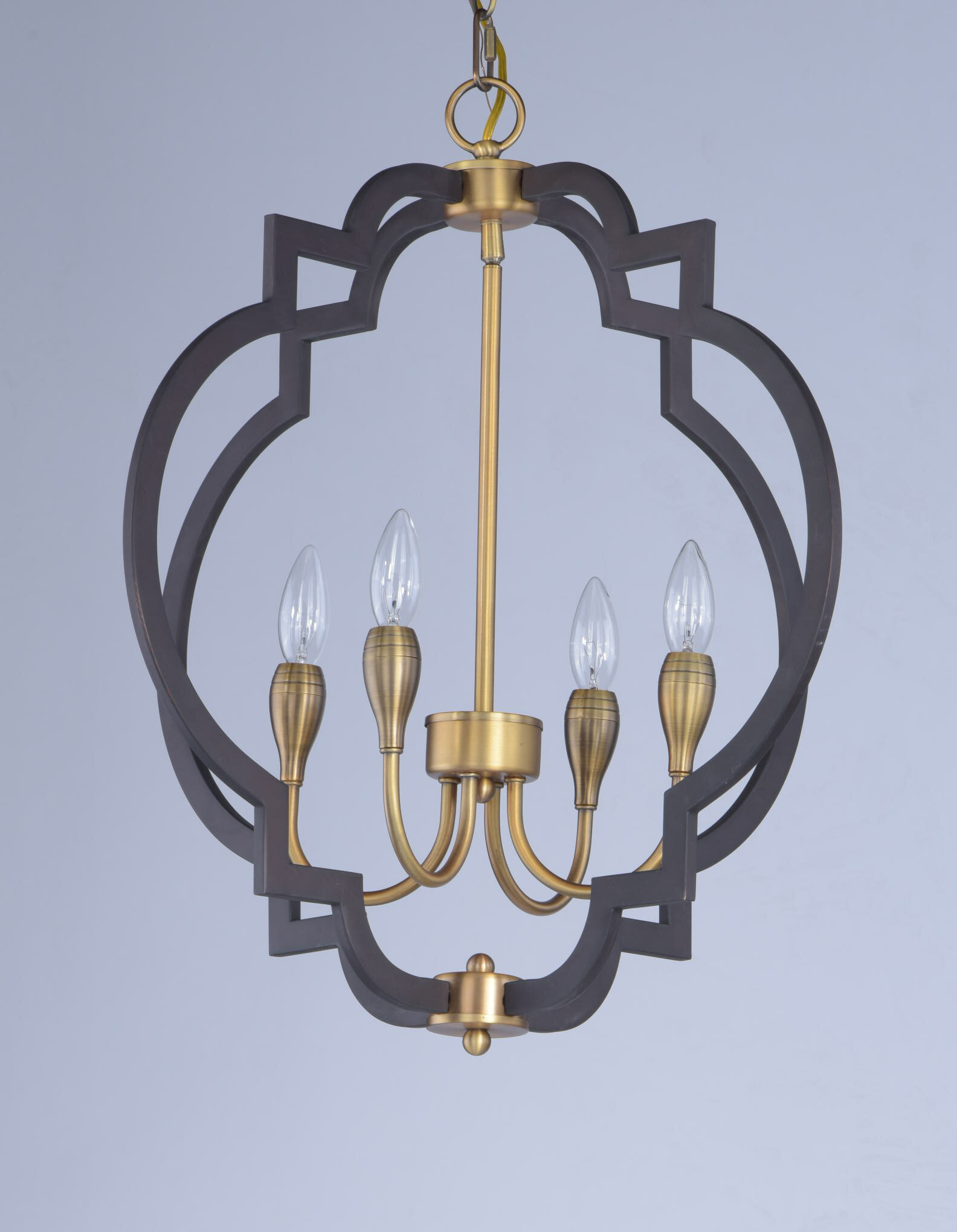 Everly Quinn Astin 4 Light Candle Style Geometric Chandelier Reviews Wayfair