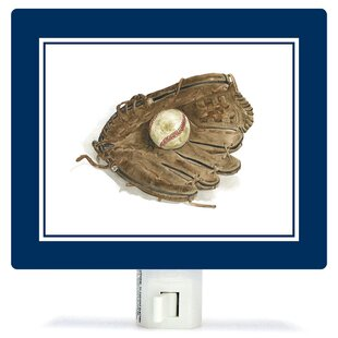 Oopsy Daisy Non-Personalized Sports and Games Ball in Glove Canvas Night Light
