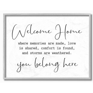 Proudly Made in USA 10 x 1.5 x 24 Stupell Home D/écor You Belong Here Welcome Home Stretched Canvas Wall Art