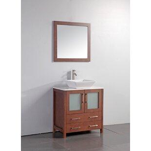 Reviews Camillo 30 Single Bathroom Vanity Set with Mirror ByWade Logan