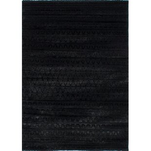 Online Reviews Gentner Black Area Rug By Ivy Bronx