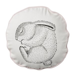 Sleeping Rabbit Cotton Throw Pillow