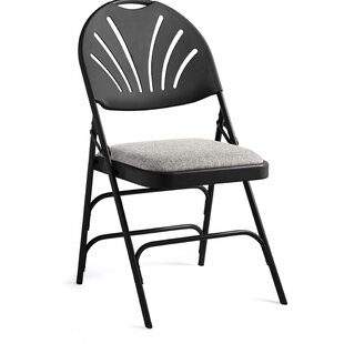Fanback Fabric Padded Folding Chair (Set of 4) by Samsonite