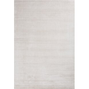 Best Reviews Charm Hand-Loomed White Area Rug By Linie Design
