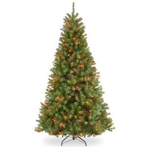 green spruce artificial christmas tree with multicolor lights - Unique Artificial Christmas Trees