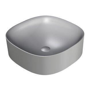 Deals Wild Ceramic Ceramic Square Vessel Bathroom Sink ByWS Bath Collections