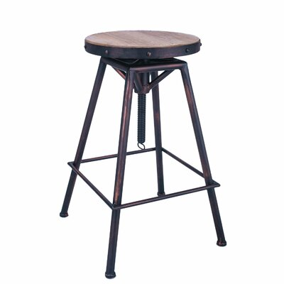 Adjustable Height Swivel Bar Stool AdecoTrading