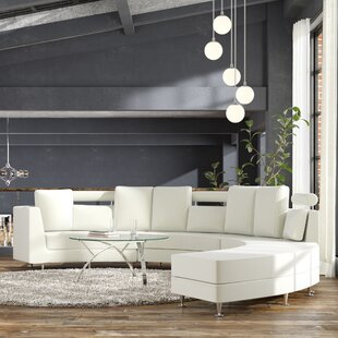 Find Canizales Leather Sectional with Ottoman by Wade Logan Reviews (2019) & Buyer's Guide