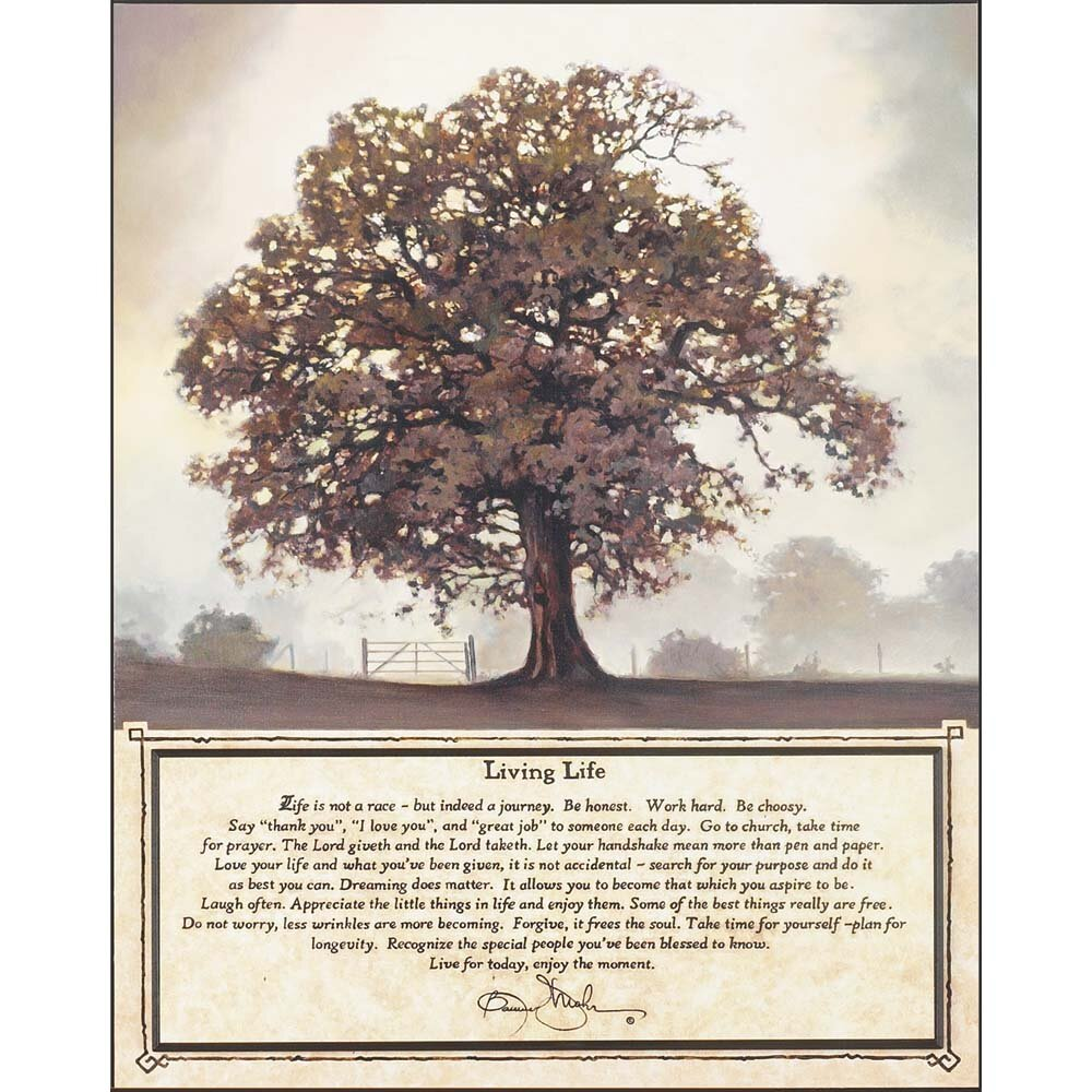 Living Life Bonnie Mohr Quote Dicksonsinc 'living Tree'bonnie Mohr Graphic Art Plaque  Wayfair