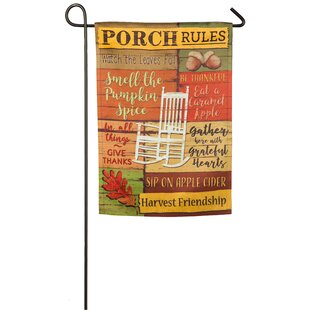 Fall Porch Rules 2 Sided Polyester 1u00276 X 1 Ft. Garden Flag By Evergreen  Flag U0026 Garden