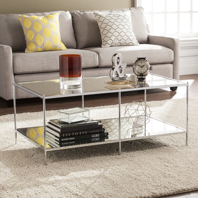 Taunya Glam Mirrored Coffee Table