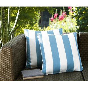 Fawcett Water Resistant Stripe Indoor/Outdoor Throw Pillow (Set of 2) by Breakwater Bay