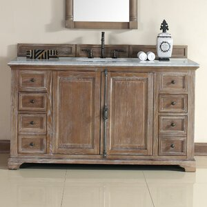 Belhaven 60 Single Driftwood Bathroom Vanity Set