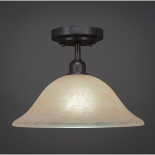 Kash 1-Light Marble Semi-Flush Mount by Williston Forge