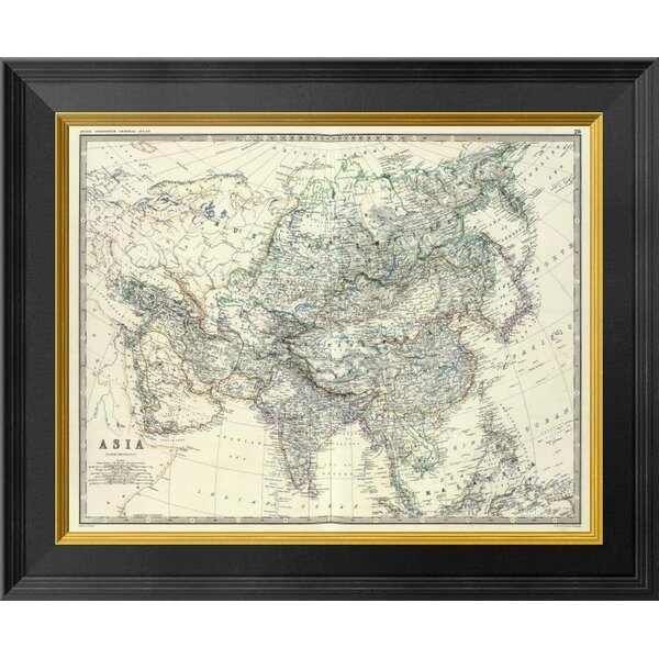 Global Gallery Asia 1861 By Alexander Keith Johnston Framed Graphic Art On Canvas Wayfair