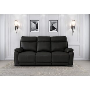 Iwar Leather Home Theater Sofa by Red Barrel Studio