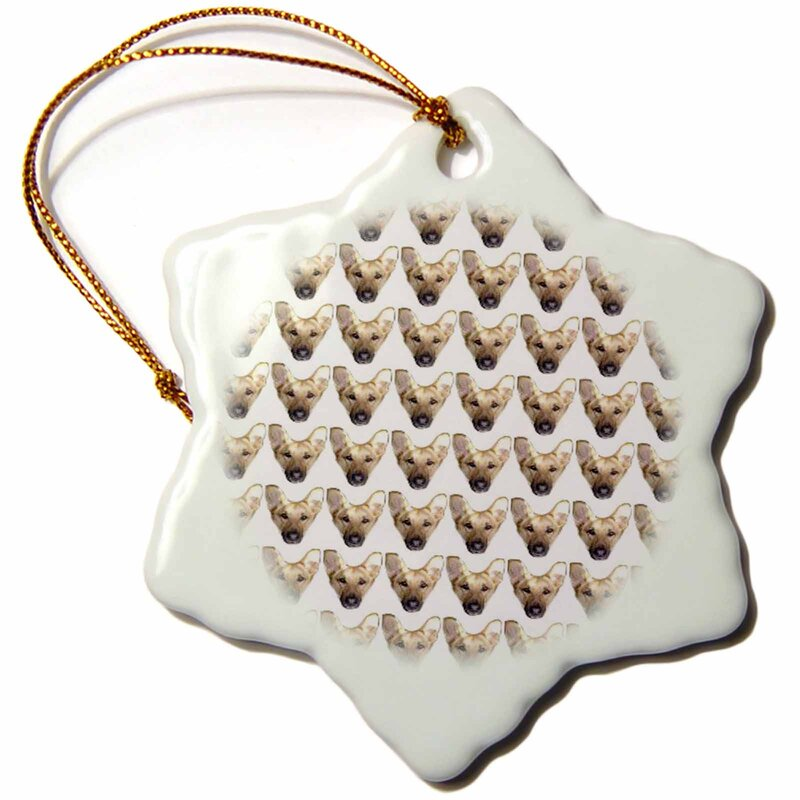 The Holiday Aisle German Shepherd Face Pattern Holiday Shaped Ornament Wayfair