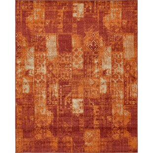 High Quality Bannan Stain Resistant Terracotta Area Rug