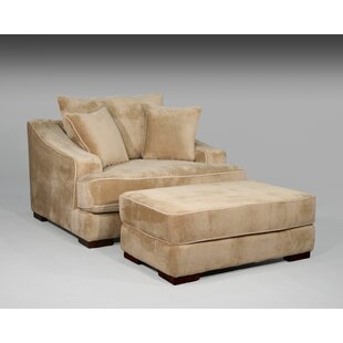 Fleur De Lis Living Marina Chair and a Half and Ottoman