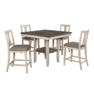 Ember 5 Piece Counter Height Dining Set by Highland Dunes