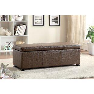 Hokku Designs Wendell Leather Storage Bench