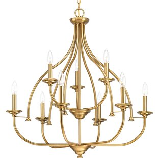 Charlton Home Perot 9-Light Chandelier