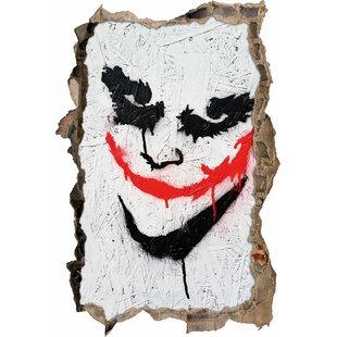 Joker Face Wall Sticker By Happy Larry