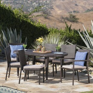 Byrne Outdoor 7 Piece Dining Set with Cushions