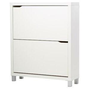 Exceptional Muoi 12 Pair White Shoe Storage Cabinet