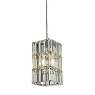 Glossop 1-Light Crystal Pendant by Mercer41