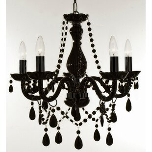 Holton 5-Light Black Candle Style Chandelier by House of Hampton